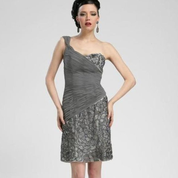 Sue Wong Dresses & Skirts - One Shoulder Sequined Sheath Dress by Sue …